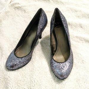 Fergalicious Silver glitter heels